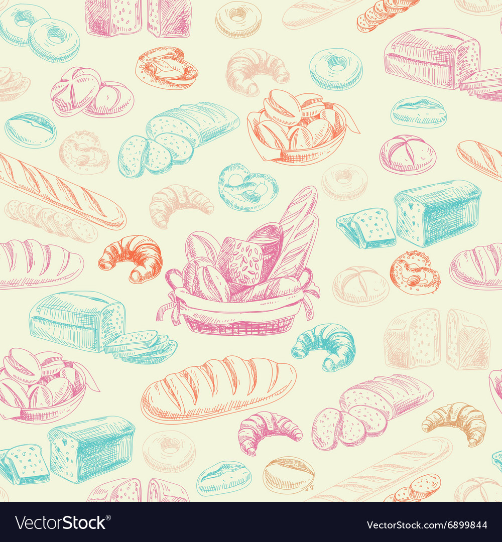 Bakery retro seamlrss pattern