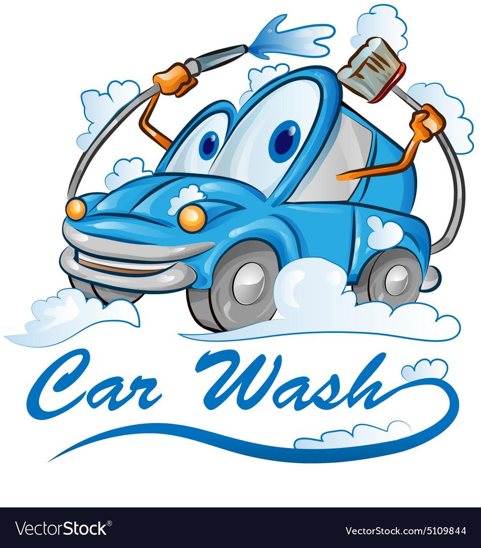 Car wash cartoon vector image