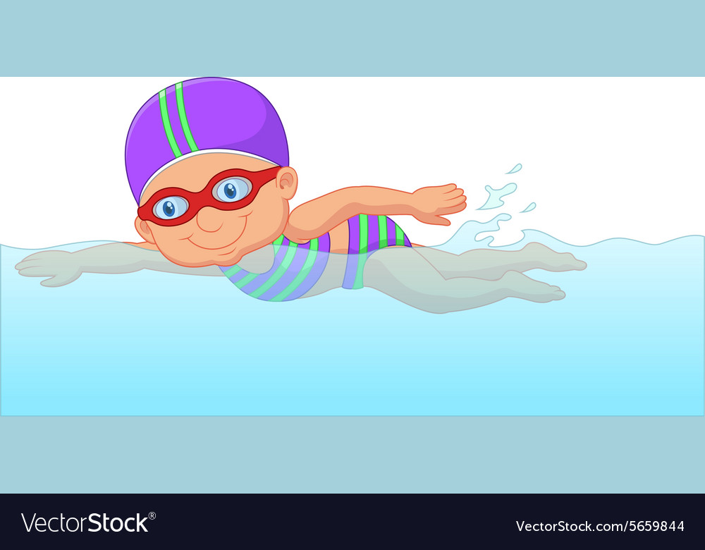 Swimming Cartoon Images High Quality Clip Art Vector
