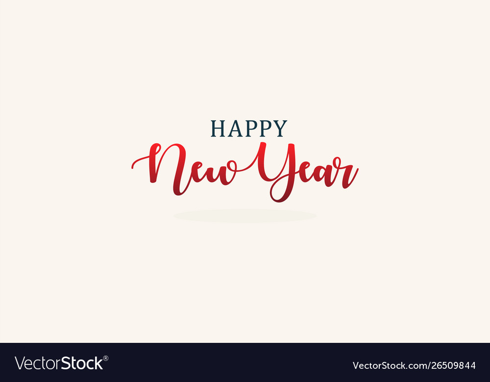 Happy new year elegant lettering for new year