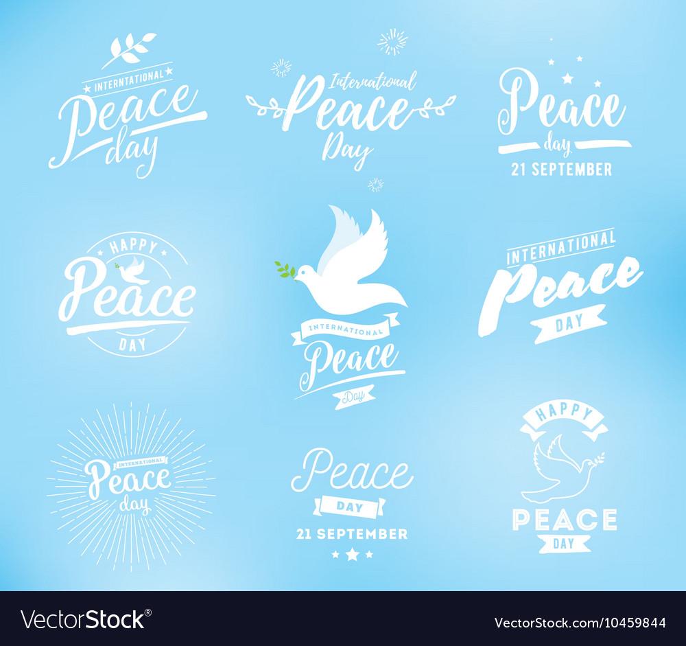International peace day emblem vector image