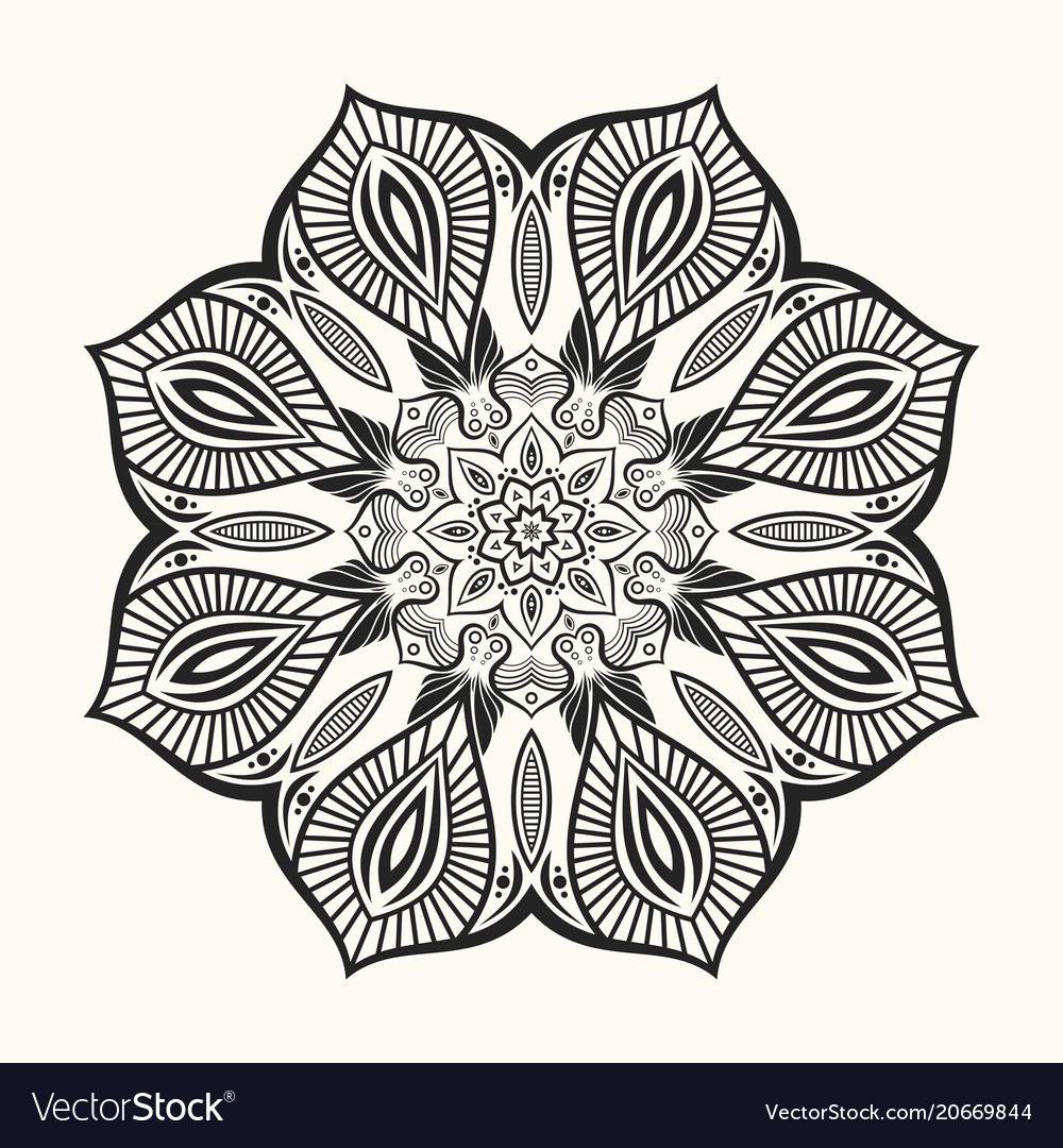 Mandala decorative round ornament