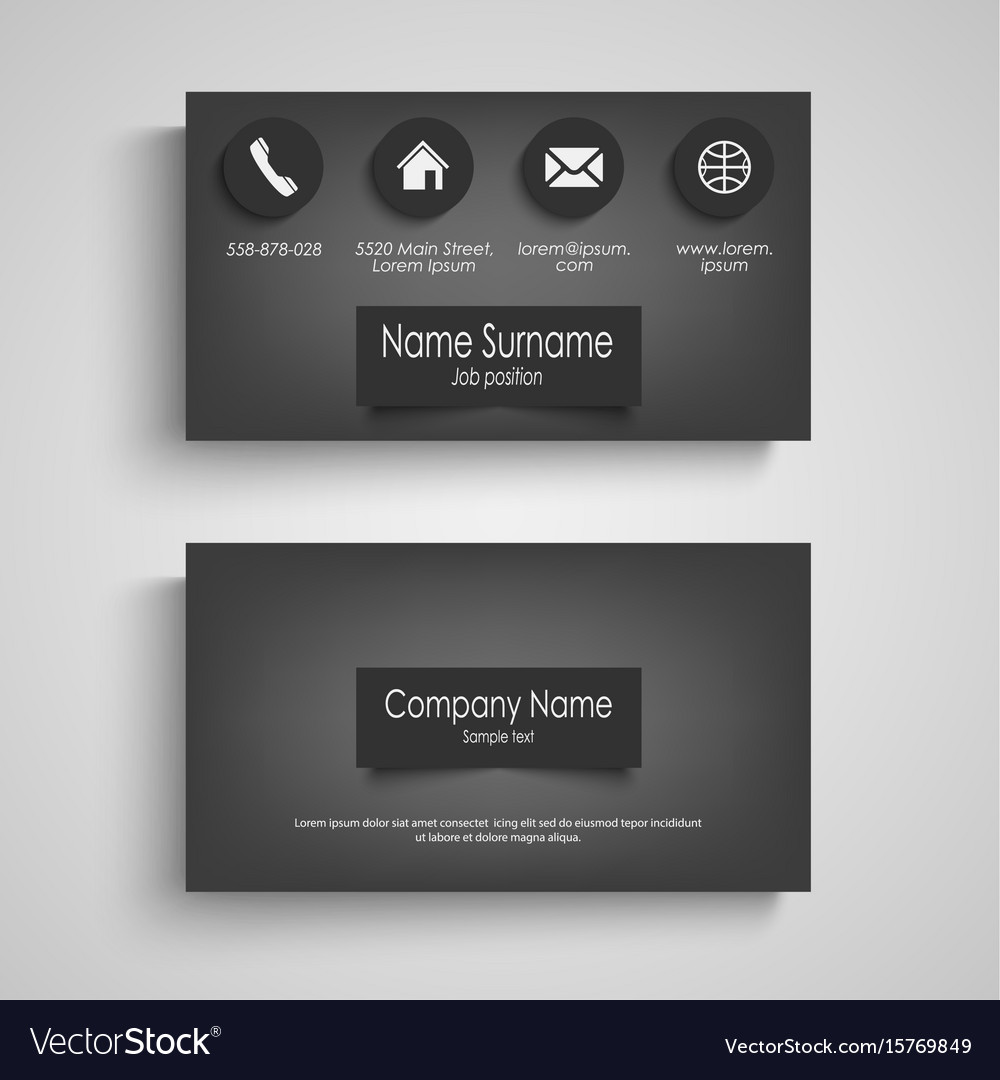 Business card dark with design labels template vector image friedricerecipe Gallery
