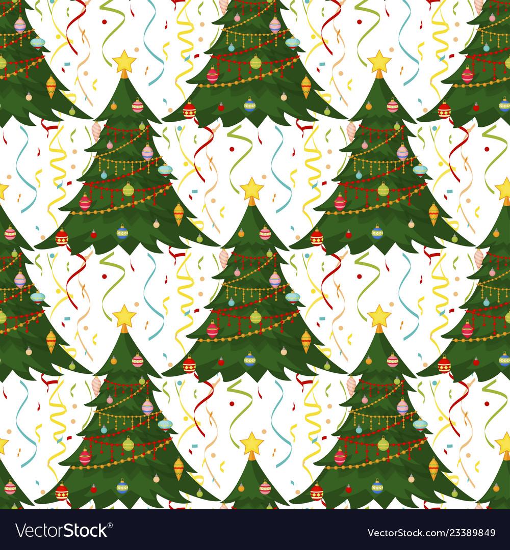 Christmas seamless pattern merry christmas and