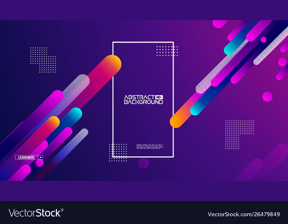 Geometric background flat layout template on