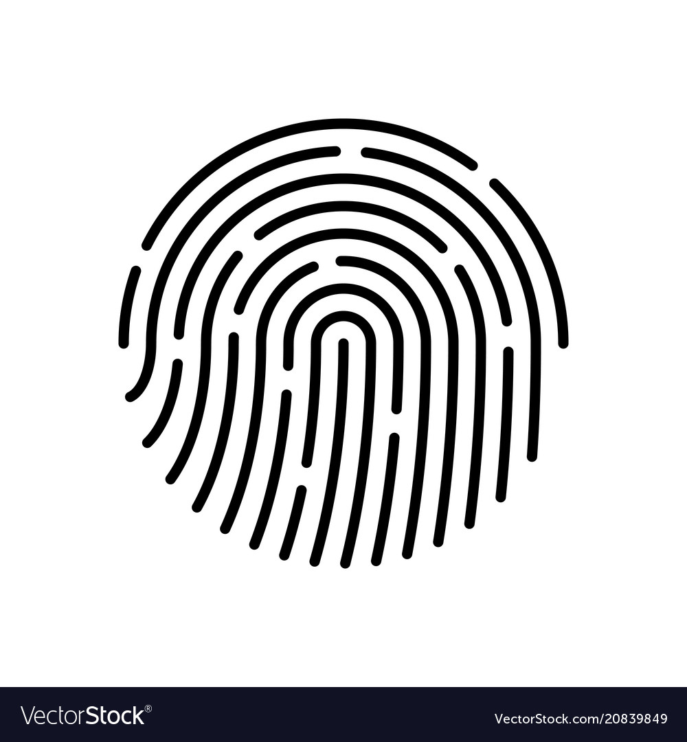 id app icon fingerprint royalty free vector image rh vectorstock com fingerprint vector art free clean fingerprint vector art