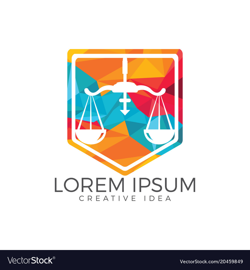 Law firm logo template law office logo with scale Vector Image