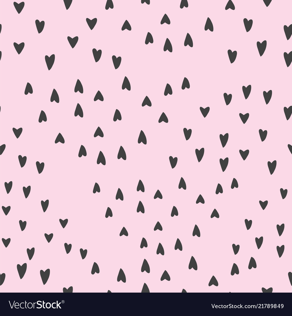 Lovely seamless background pattern with hearts