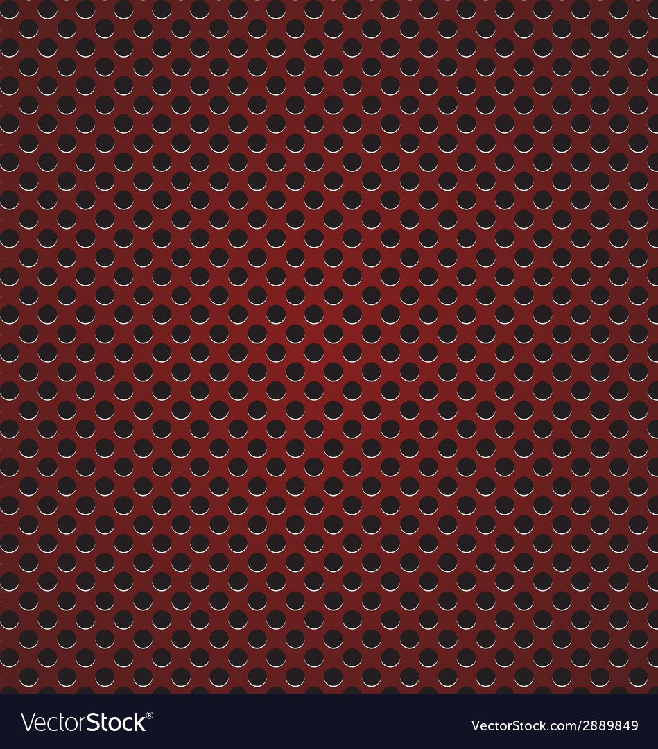 Red circle perforated carbon speaker grill texture