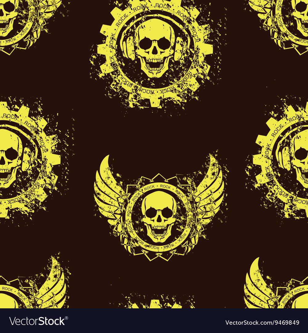Rock skull music pattern