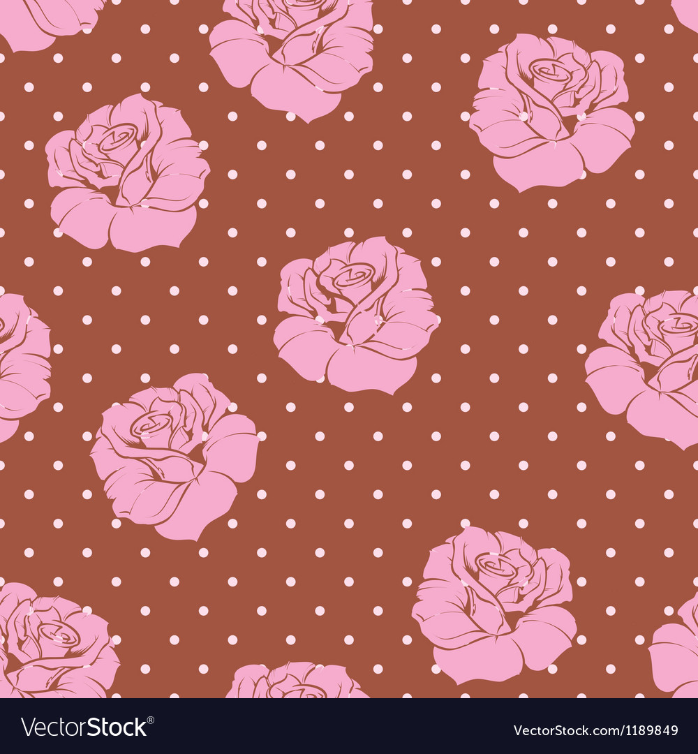 Seamless floral pattern pink rose background