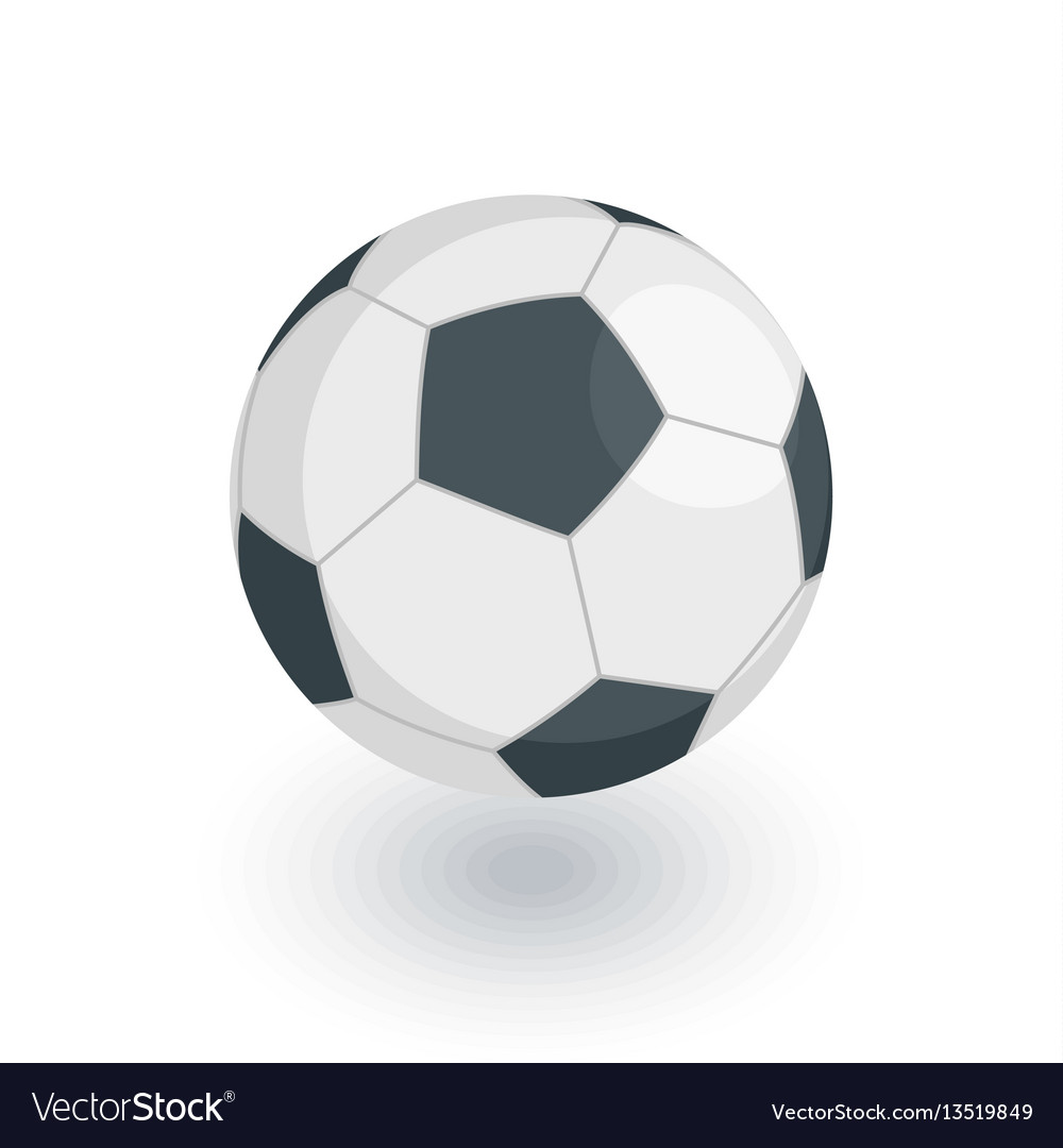 Soccer ball football isometric flat icon 3d