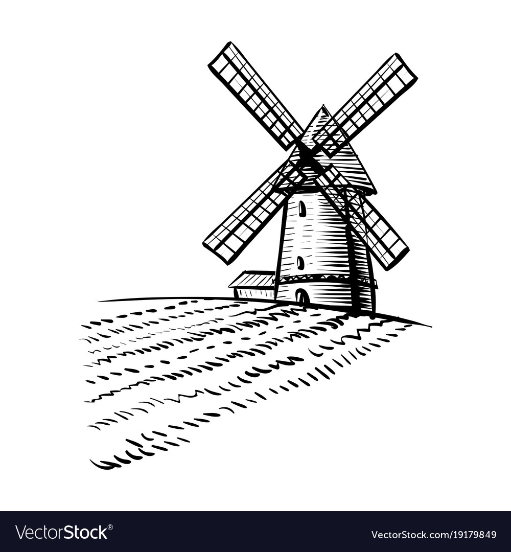 farm windmill drawing. Farm Windmill Drawing