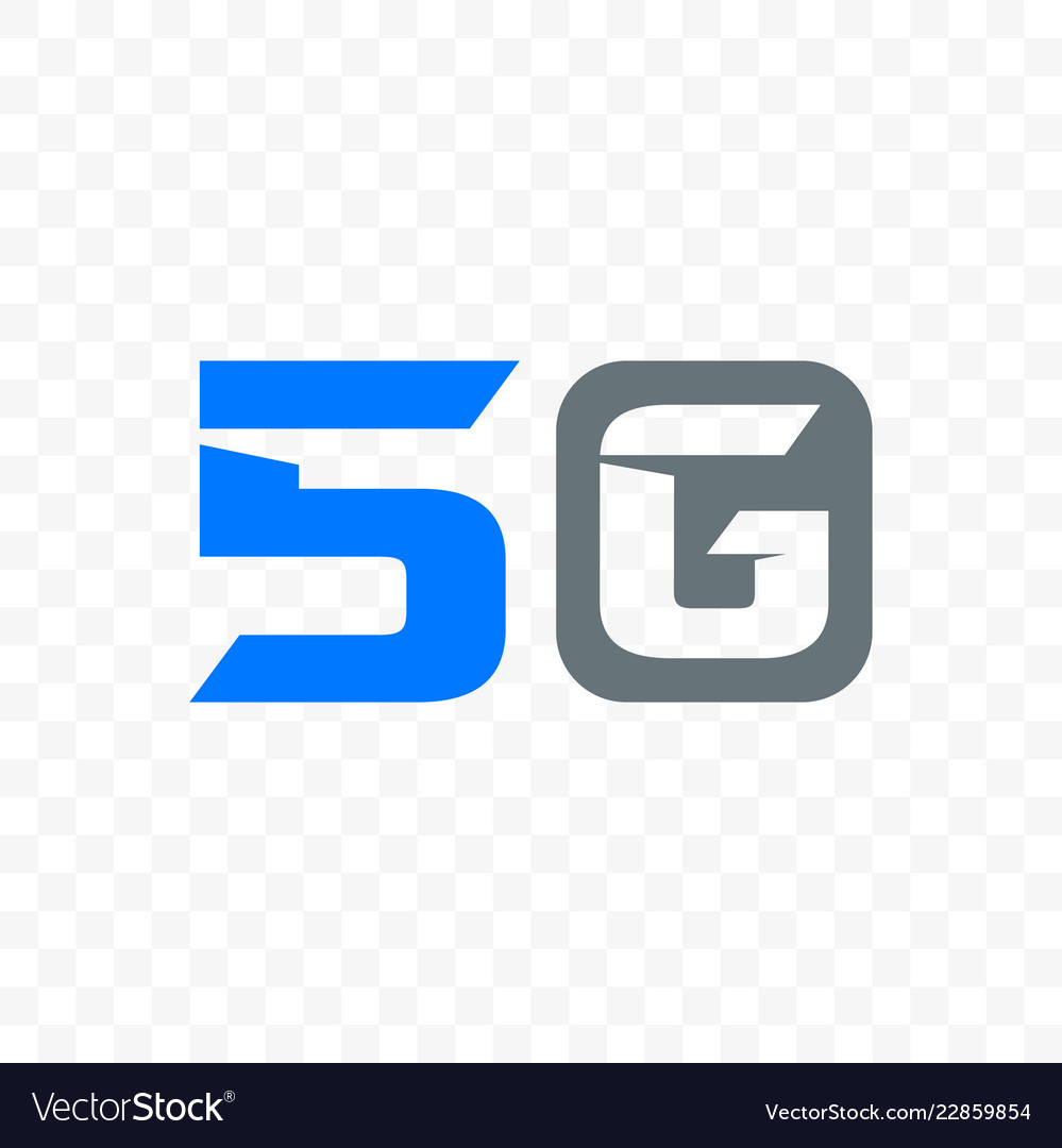 5g mobile internet network logo icon