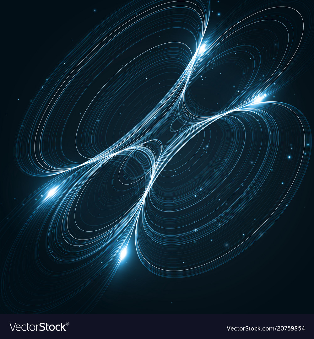 Abstract space futuristic vector image