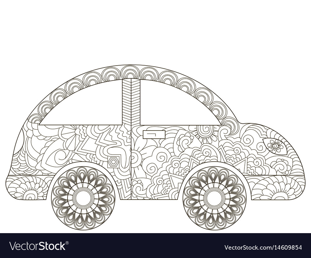 Baby toy car coloring book for adults
