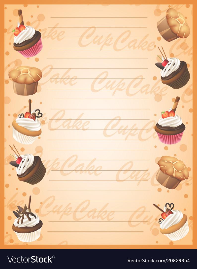 Bakery sweet frame background
