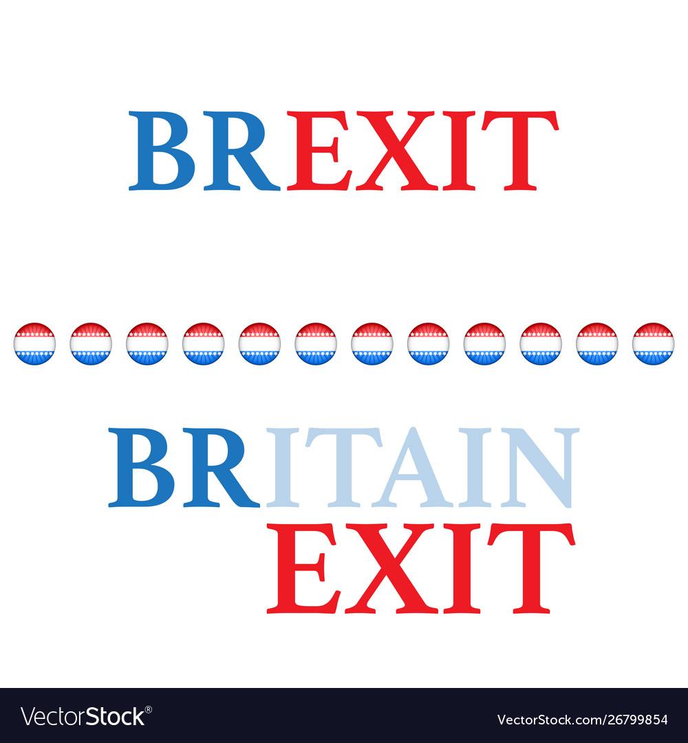 Brexit text background different colors