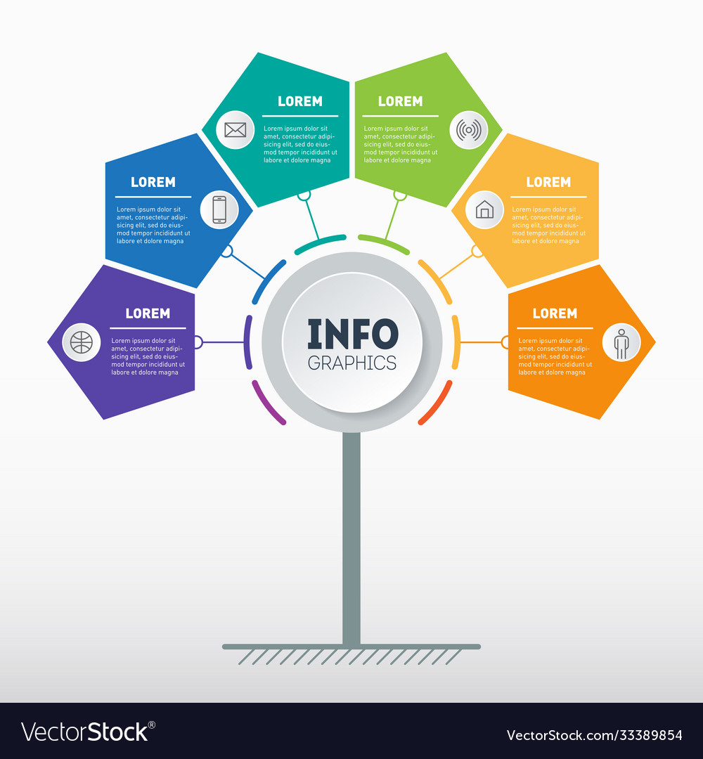 Business presentation or info graphics concept