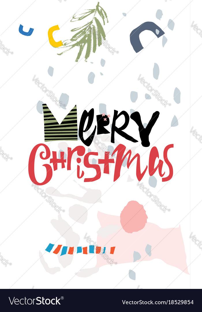 Christmas greeting card modern style