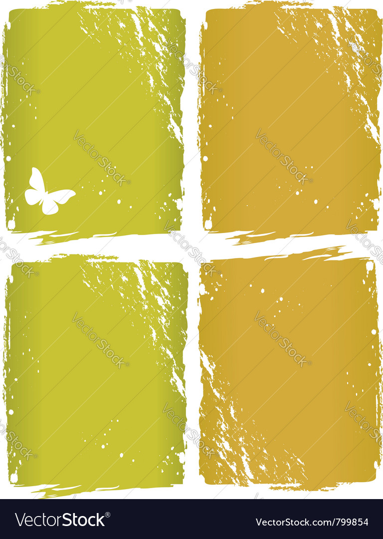 Grunge window background vector image