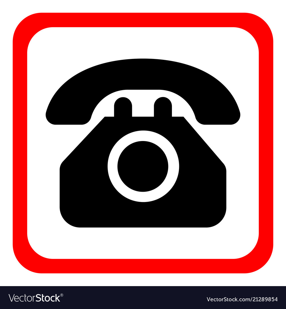 Icon telephone on a white background