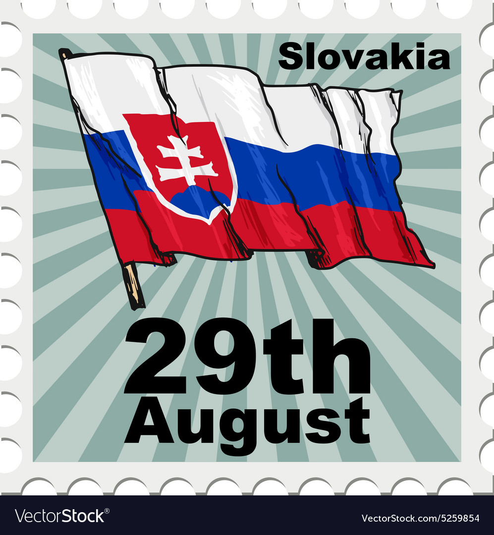 Post stamp of national day of Slovakia