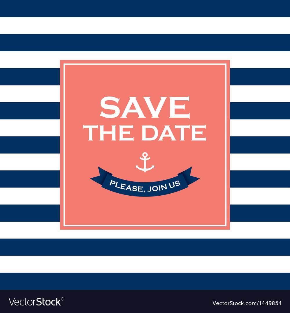 Save the date sailor theme