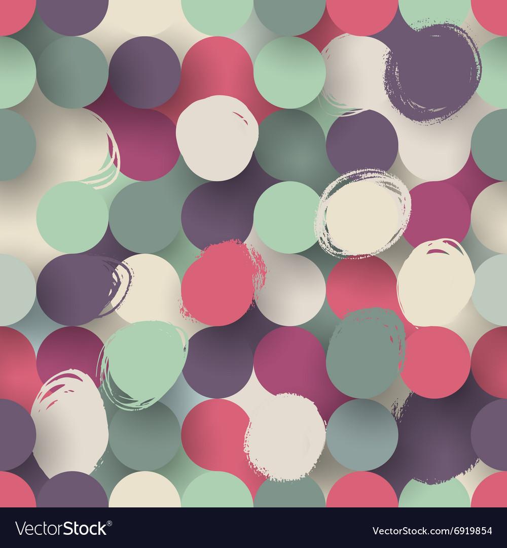 Seamless flat circle background