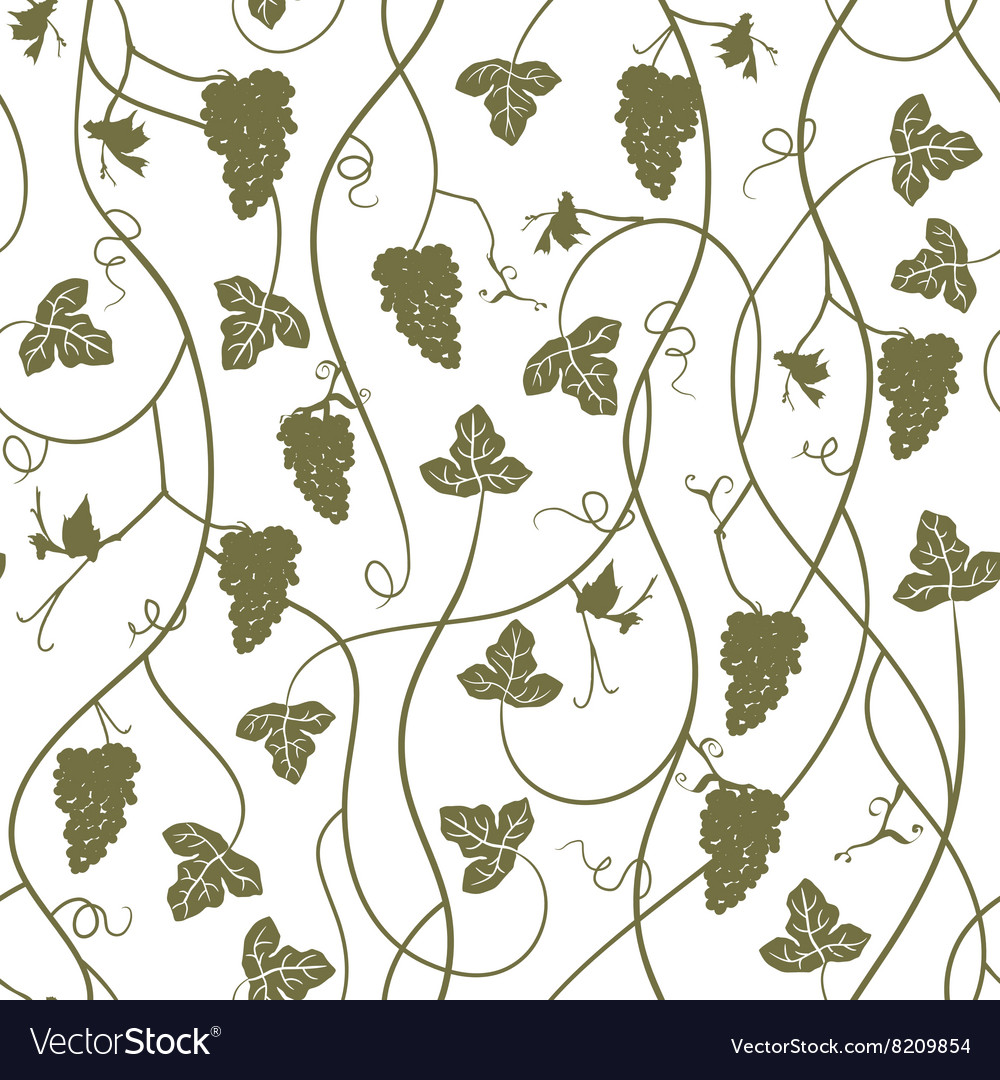 Seamless pattern wallpaper background with grapes