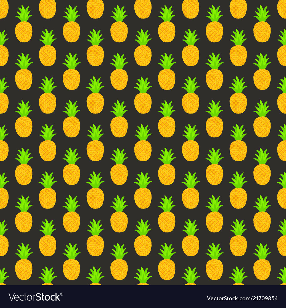 Seamless pattern with pineapples for textile