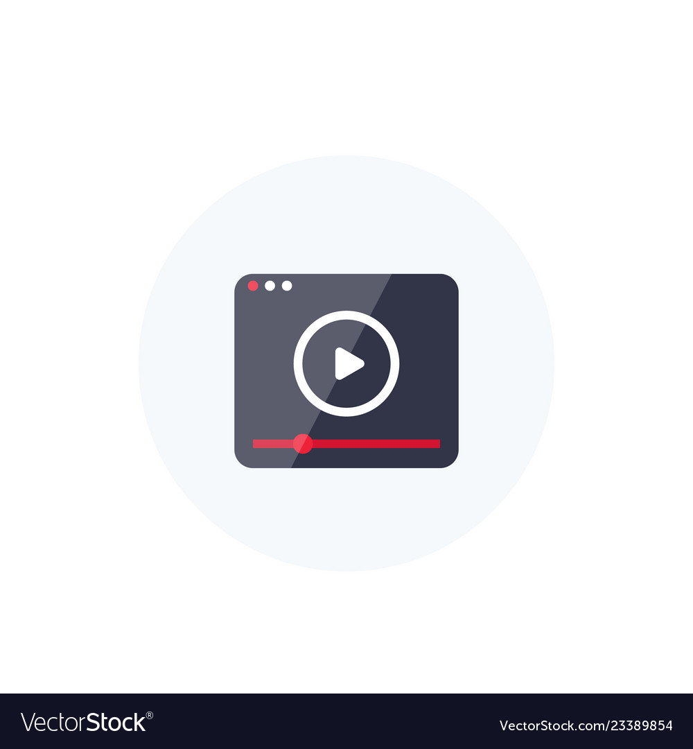 Video player icon logo for apps