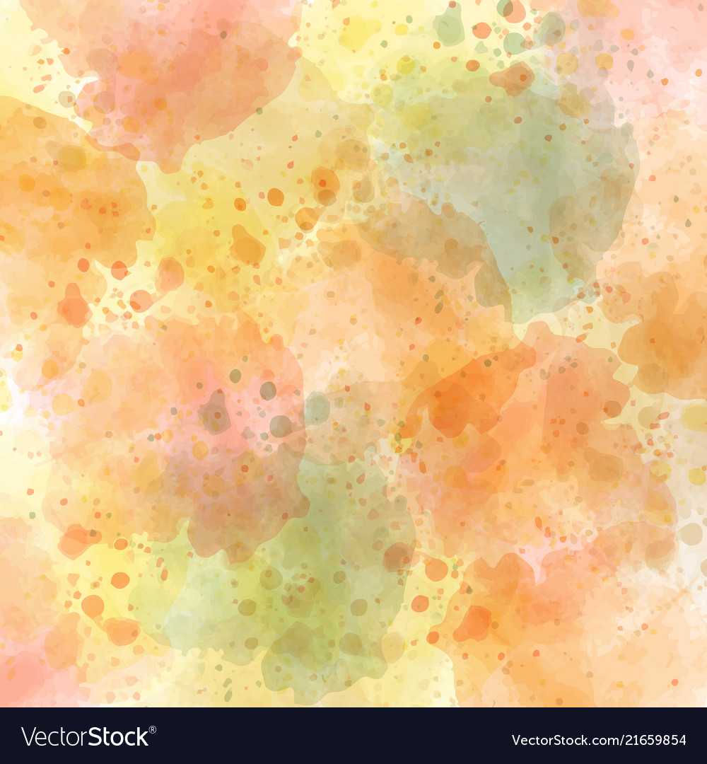 Watercolor Autumn Pastel Background Royalty Free Vector