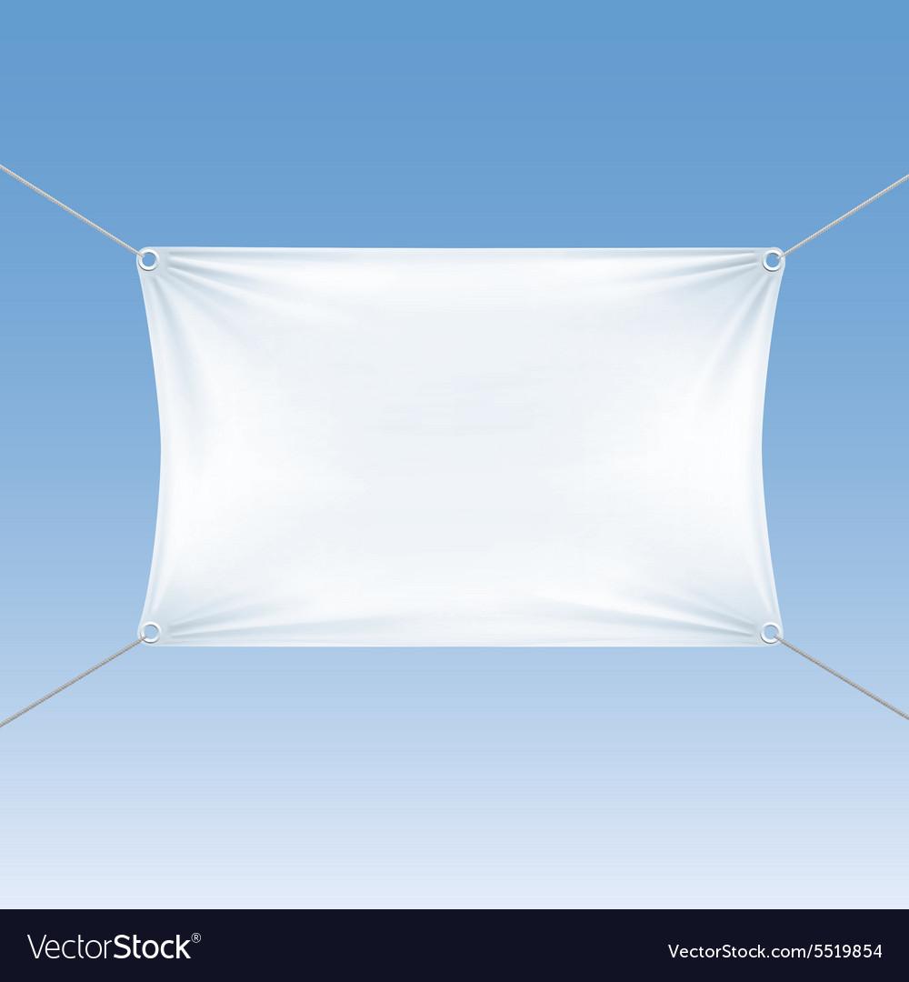 White Blank Empty Horizontal Rectangular Banner vector image