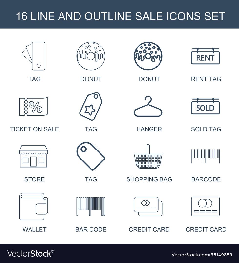16 sale icons