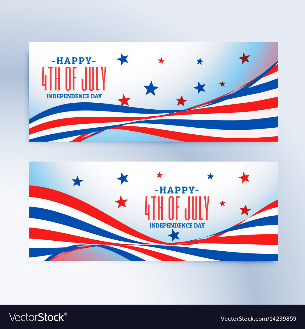 4th july banners set