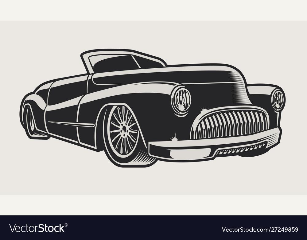 A vintage classic car