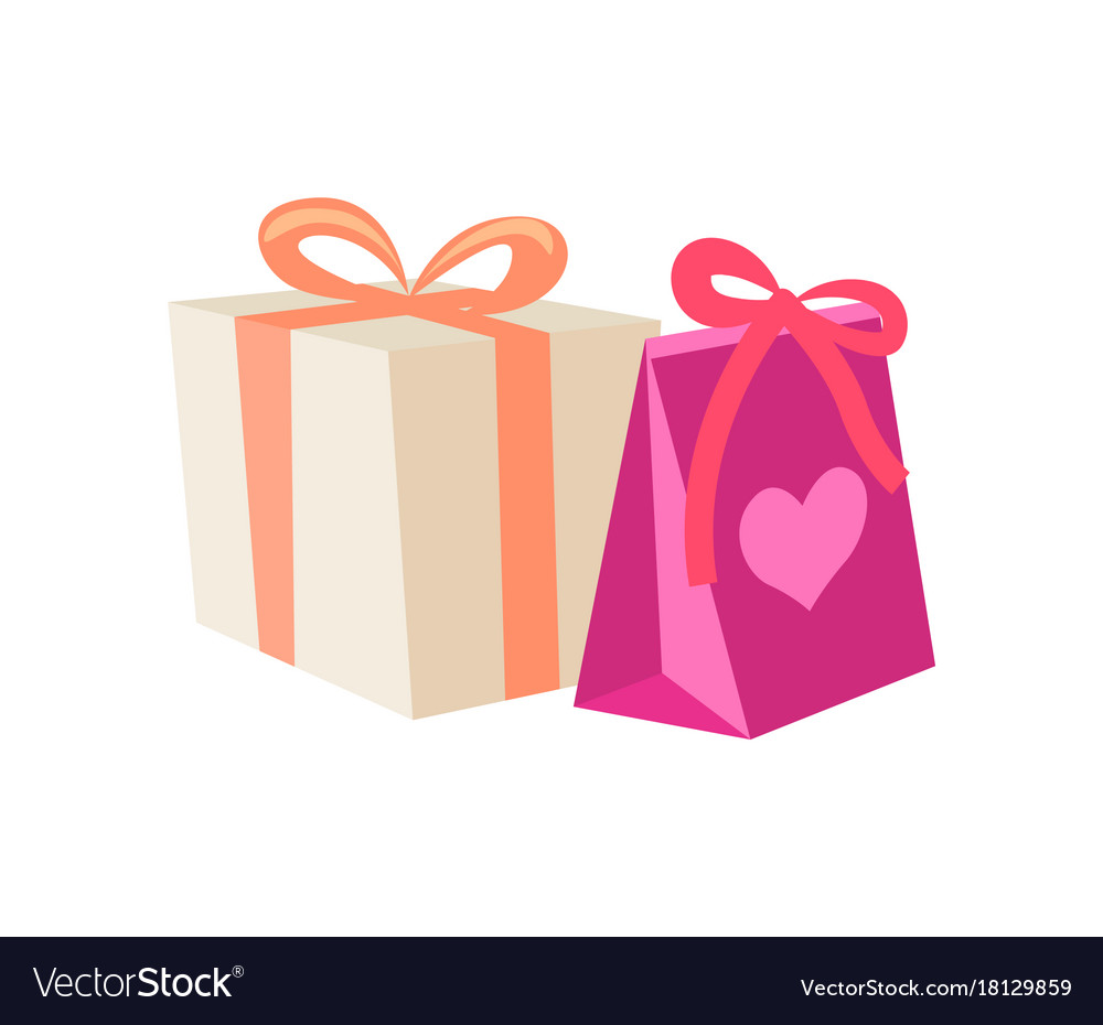 Birthday Gifts In Cartoon Style Royalty Free Vector Image