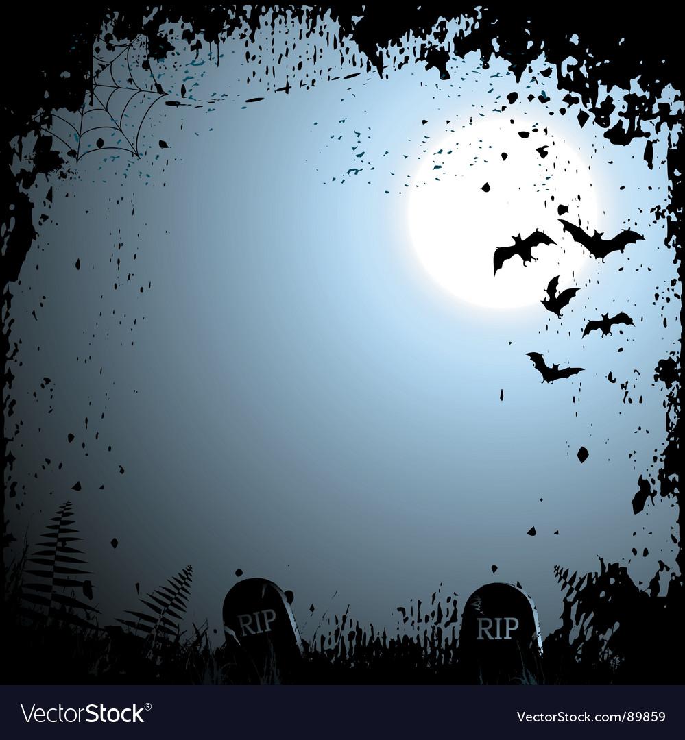 Flying bats Halloween background