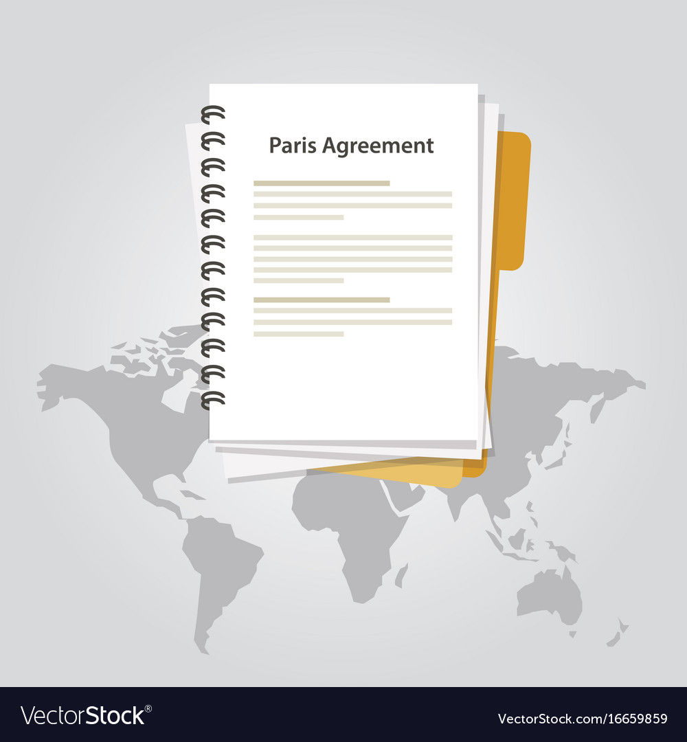 Paris agreement climate accord paper document