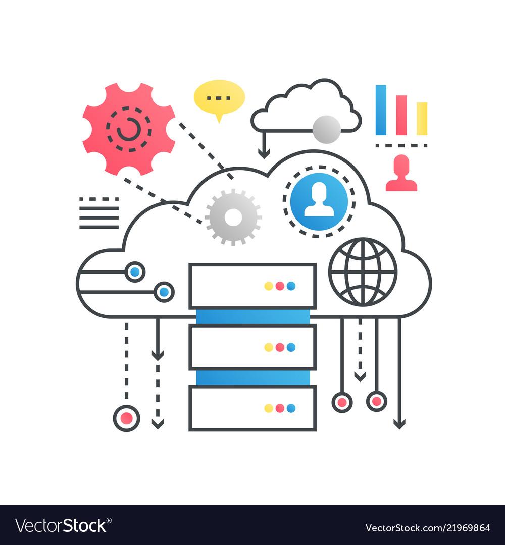 Cloud computing technology service data storage