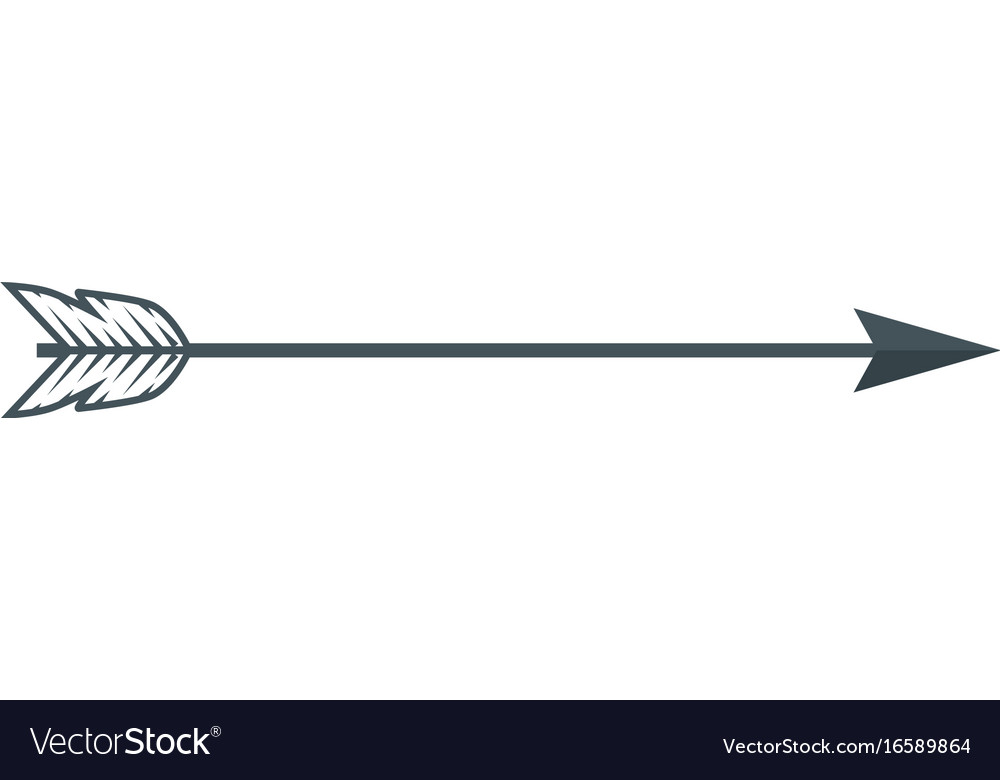 Decorative bow arrow Royalty Free Vector Image