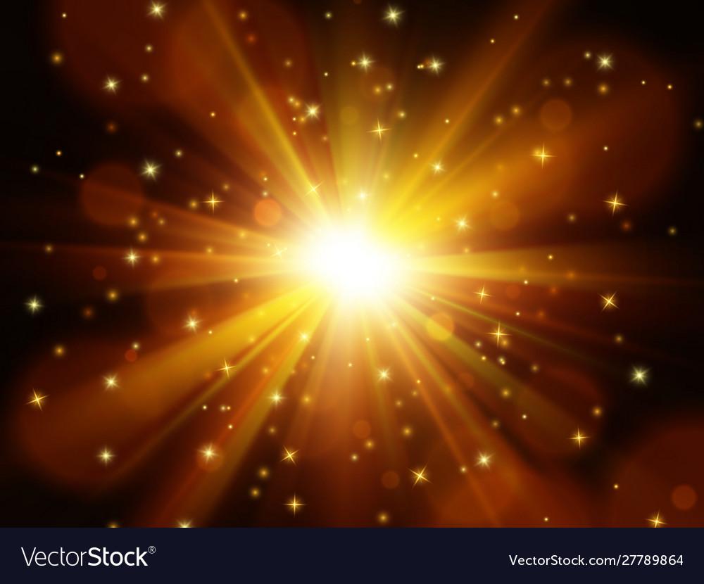 Light effect star burst with sparkles