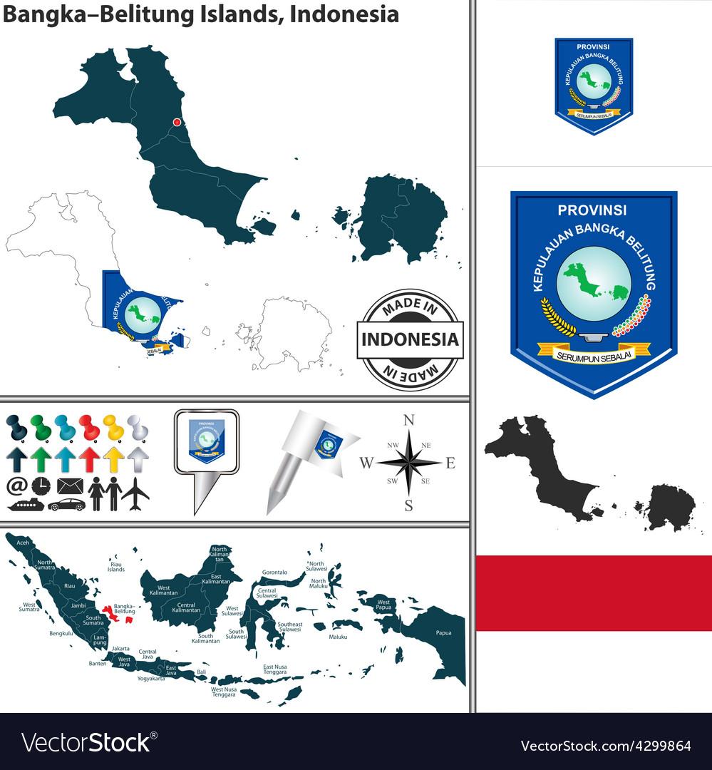 Map of BangkaBelitung Islands