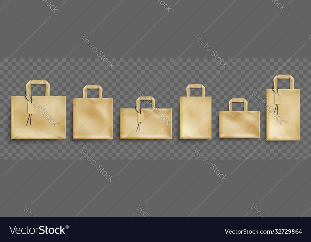 Mockup craft paper eco bags