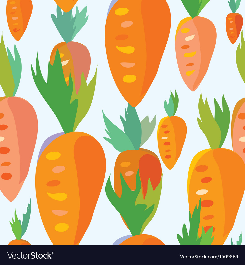 Carrot seamless funny pattern