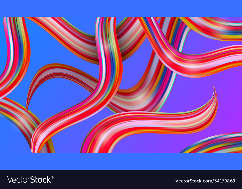 Colorful brushstroke elements abstract background