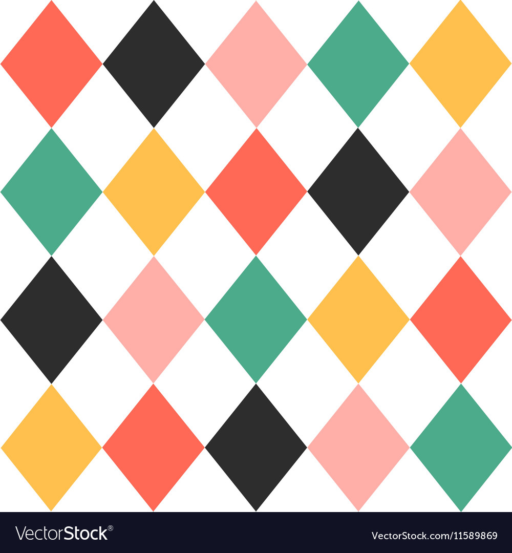 Colorful Chess Board Diamond Background