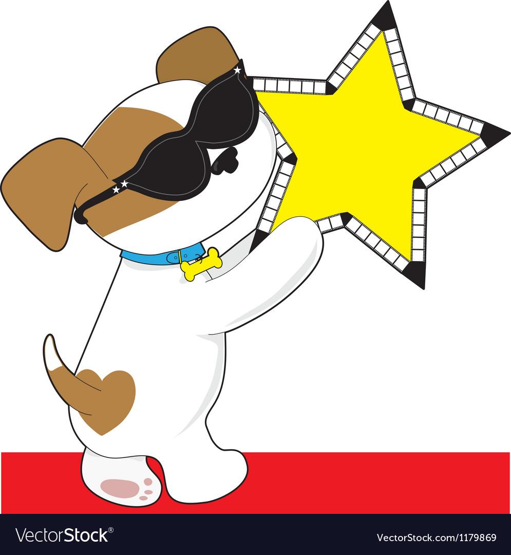 Cute Puppy Star vector image