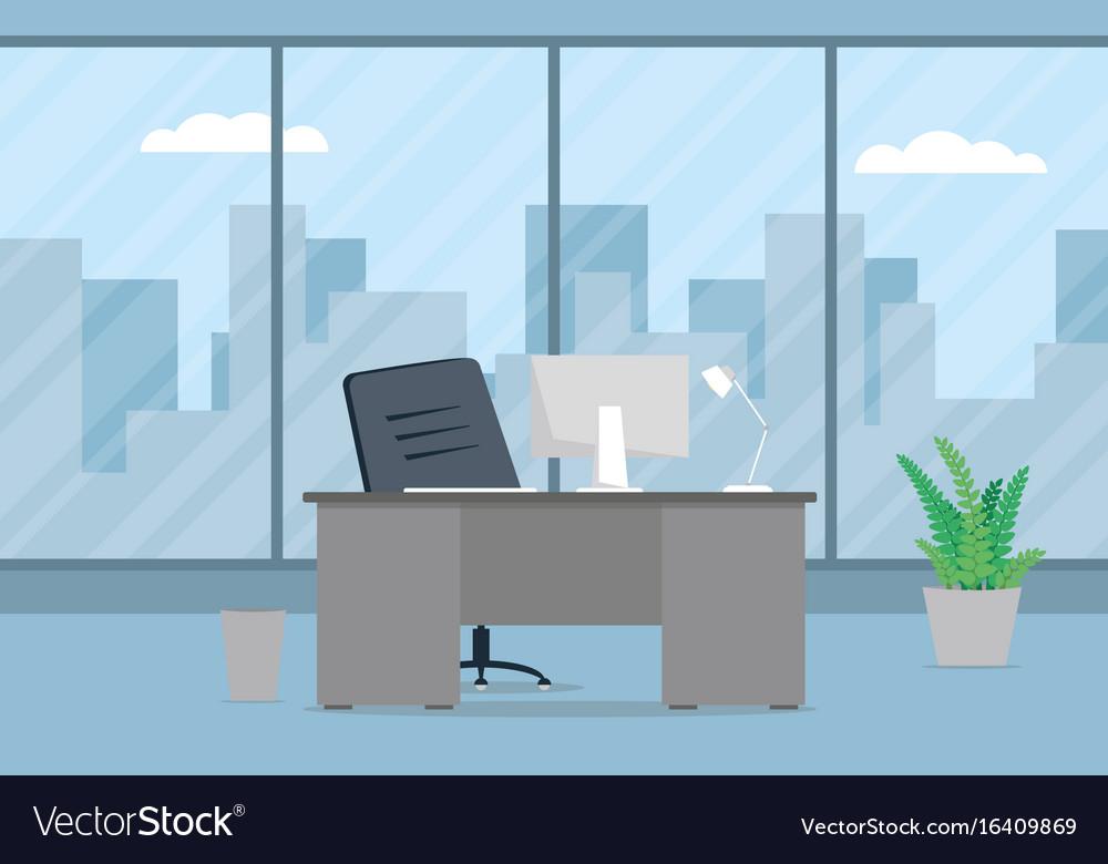Design of modern office designer workplace